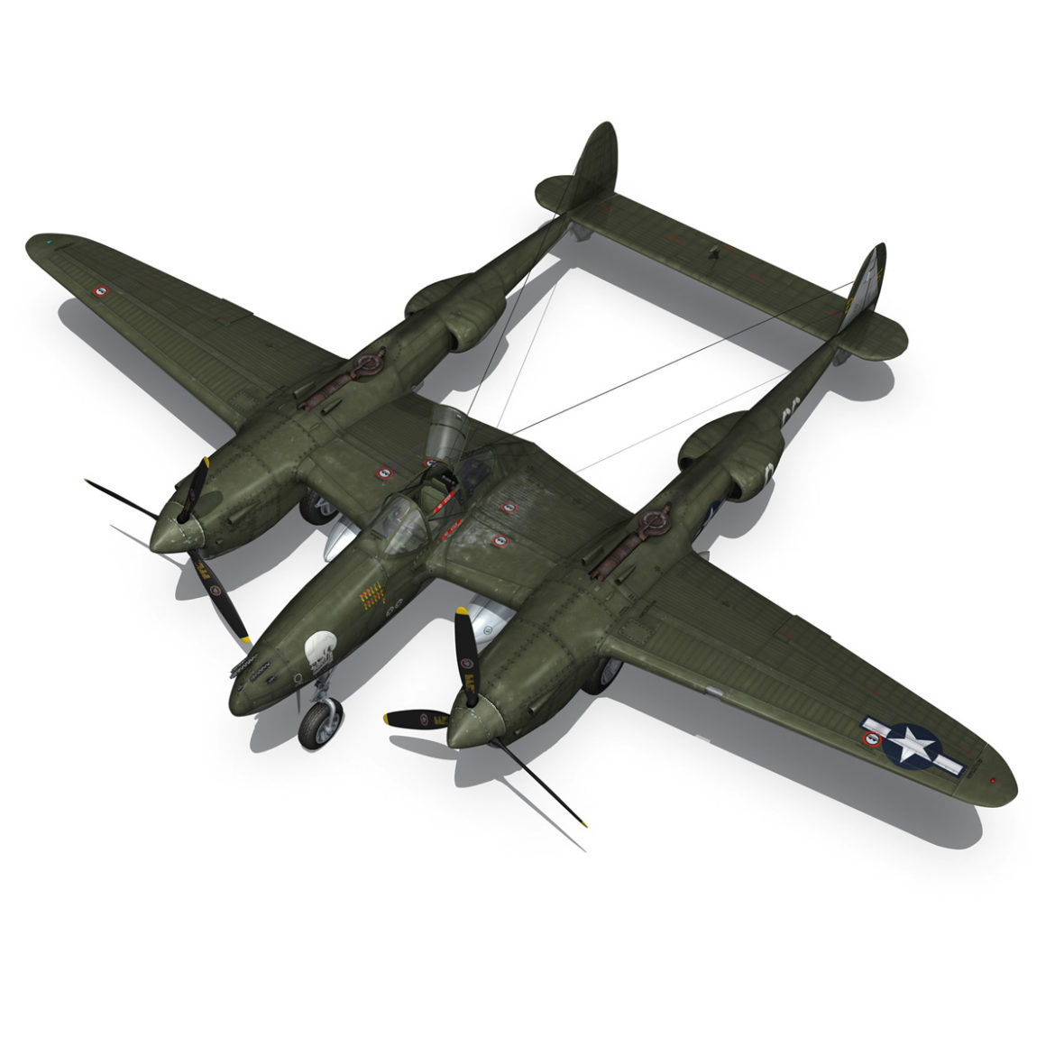 lockheed p-38 lightning – journeys end 3d model fbx lwo lw lws obj c4d 304436