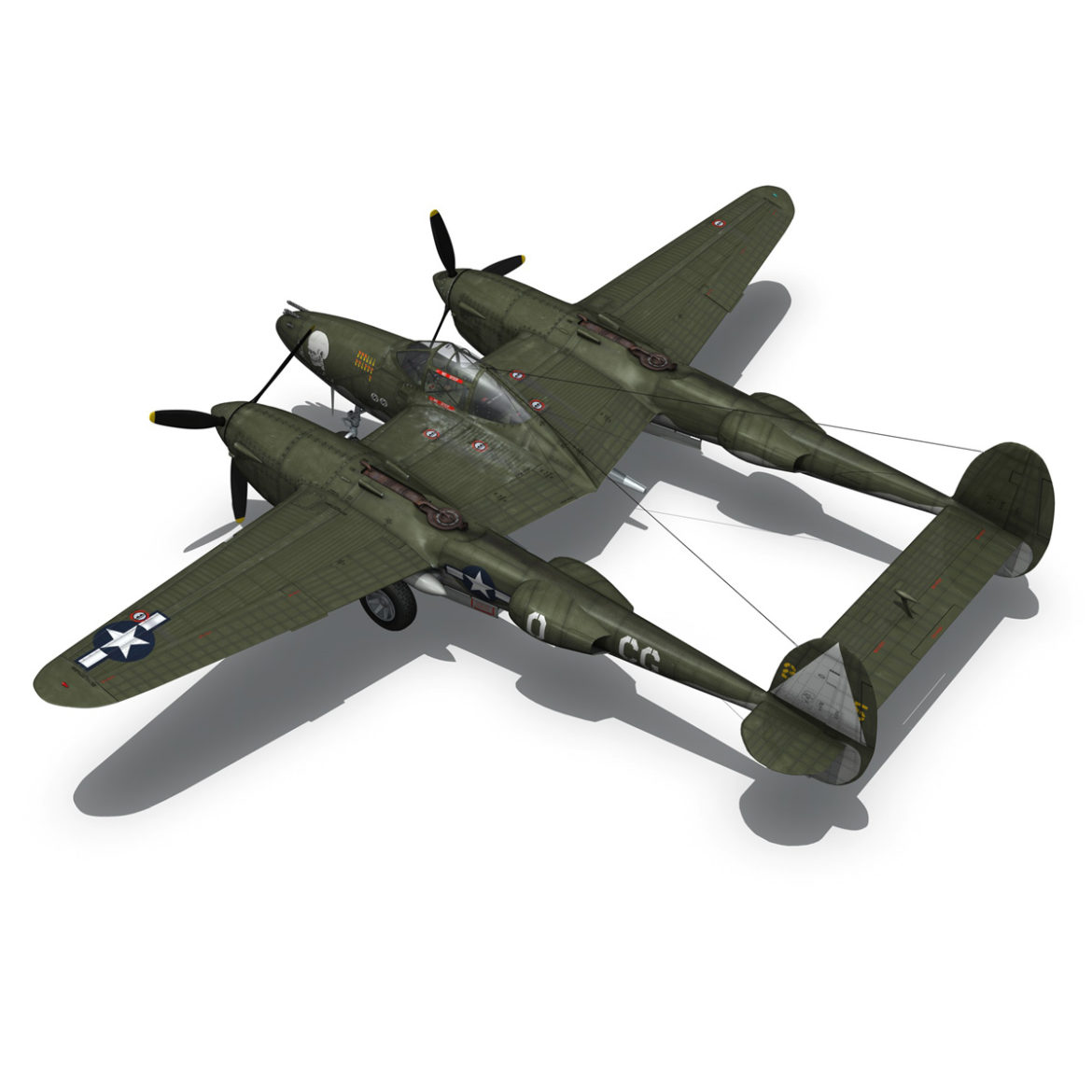 lockheed p-38 lightning – journeys end 3d model fbx lwo lw lws obj c4d 304437
