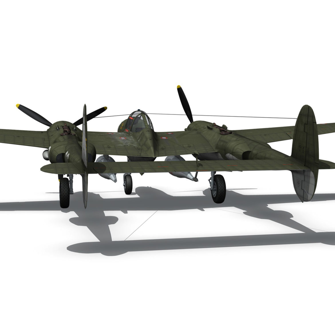 lockheed p-38 lightning – journeys end 3d model fbx lwo lw lws obj c4d 304438