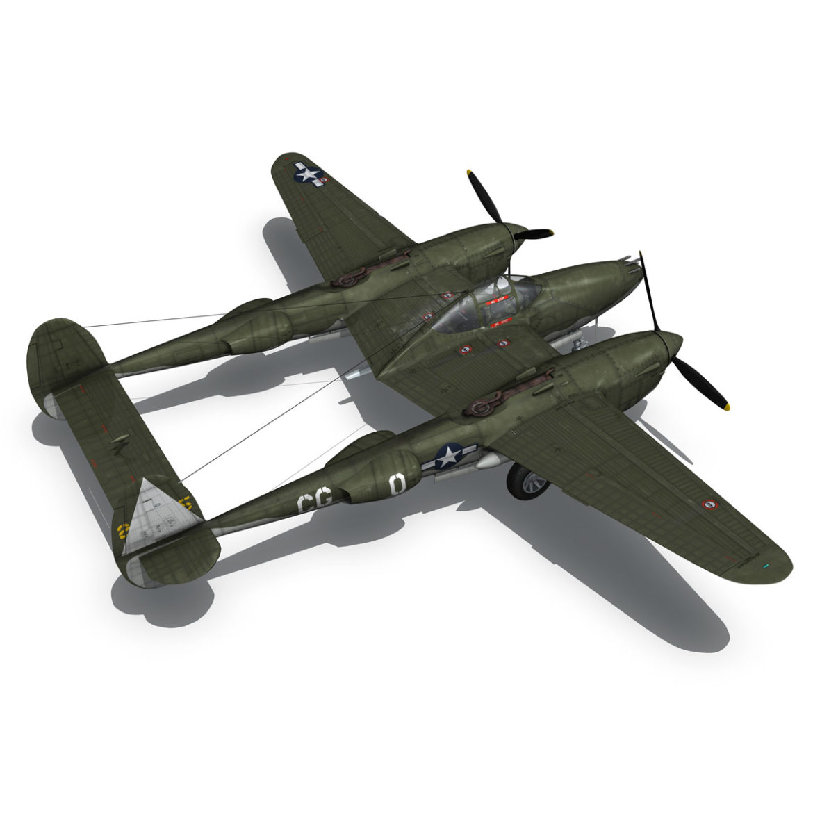 lockheed p-38 lightning – journeys end 3d model fbx lwo lw lws obj c4d 304439