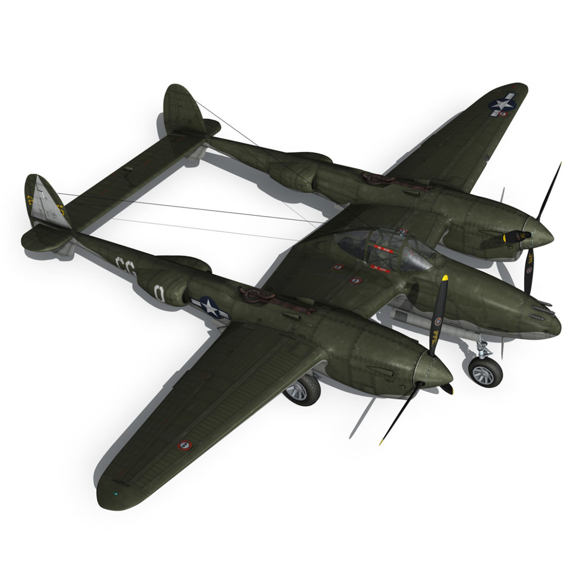 lockheed p-38 lightning – journeys end 3d model fbx lwo lw lws obj c4d 304440