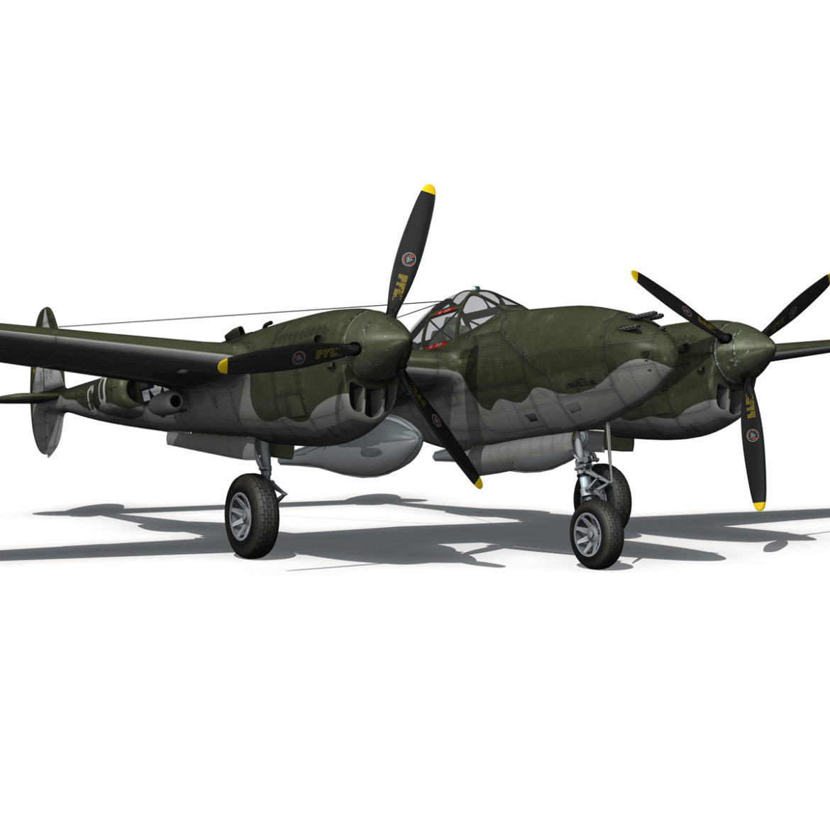 lockheed p-38 lightning – journeys end 3d model fbx lwo lw lws obj c4d 304441
