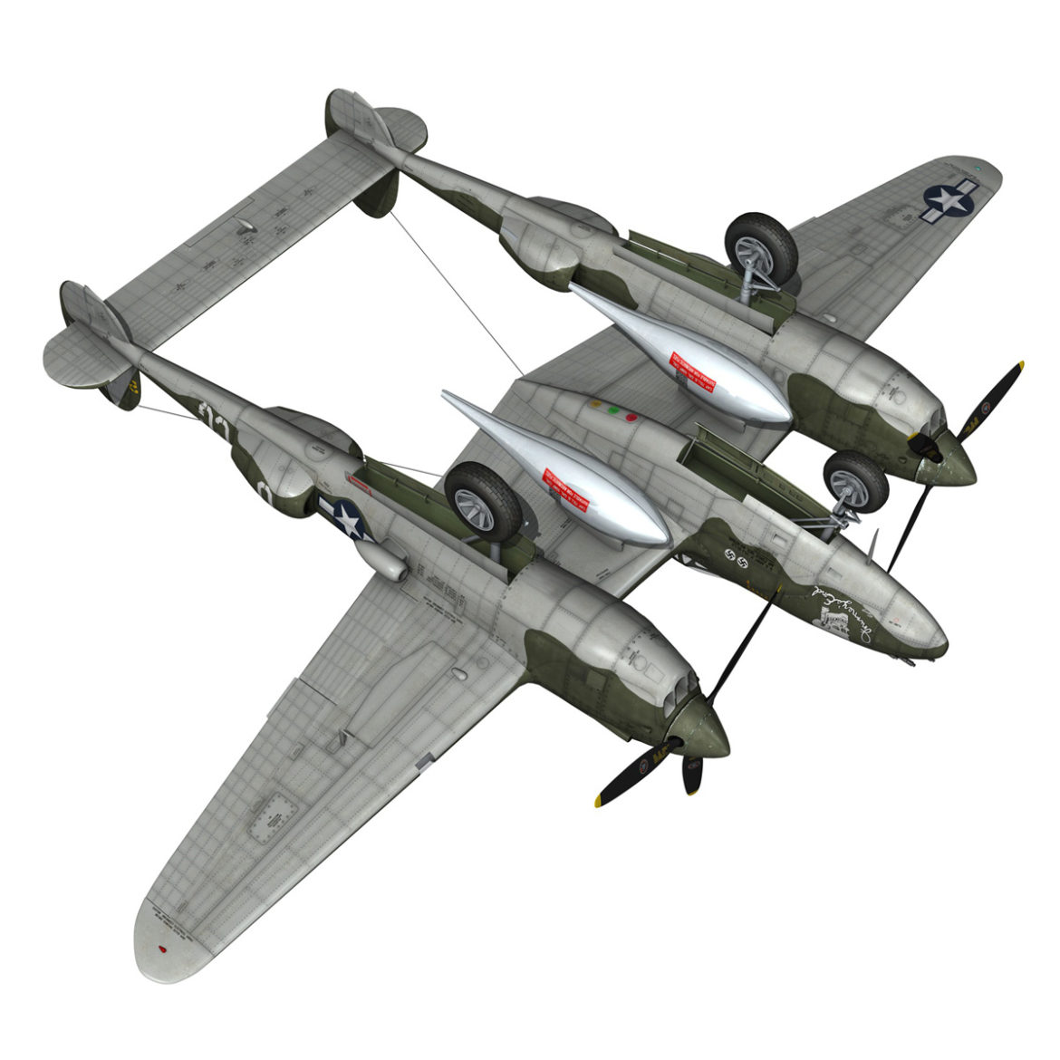 lockheed p-38 lightning – journeys end 3d model fbx lwo lw lws obj c4d 304443