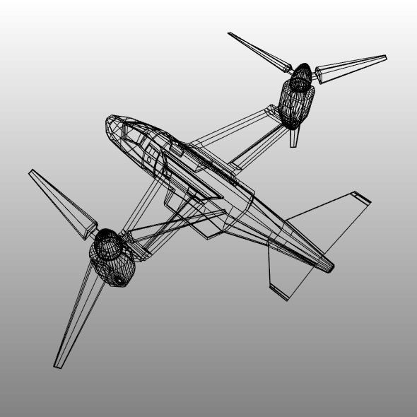 military vtol rotorcraft vehicle concept 3d model 3ds blend dae fbx obj 304547
