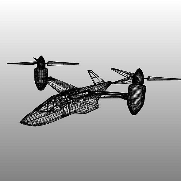military vtol rotorcraft vehicle concept 3d model 3ds blend dae fbx obj 304548