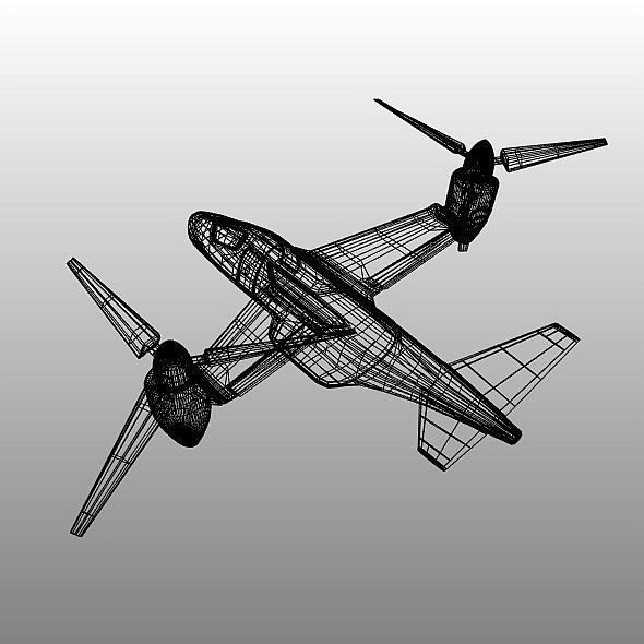military vtol rotorcraft vehicle concept 3d model 3ds blend dae fbx obj 304549