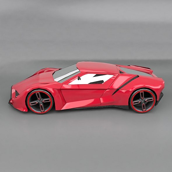 lowpoly itonos futuristic concept car 3d model 3ds blend dae lwo lw lws obj 304594