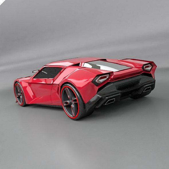 lowpoly itonos futuristic concept car 3d model 3ds blend dae lwo lw lws obj 304597