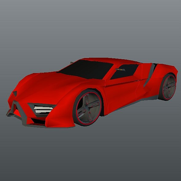 lowpoly itonos futuristic concept car 3d model 3ds blend dae lwo lw lws obj 304601