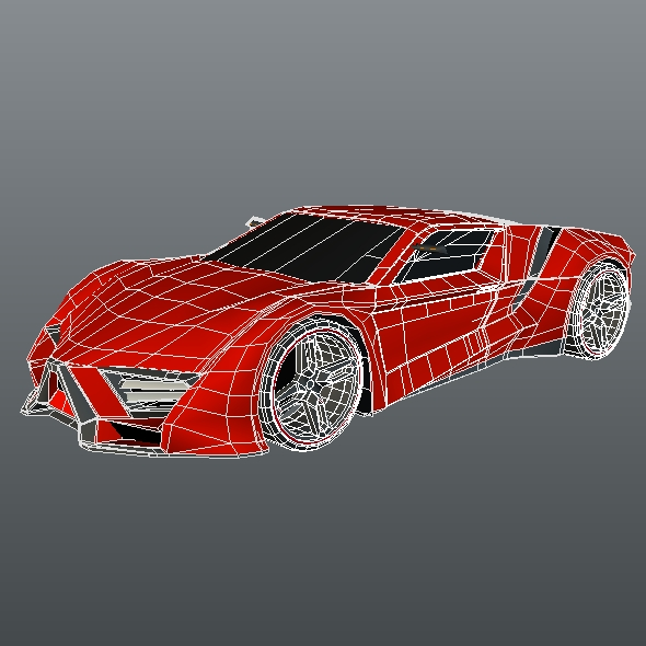 lowpoly itonos futuristic concept car 3d model 3ds blend dae lwo lw lws obj 304602