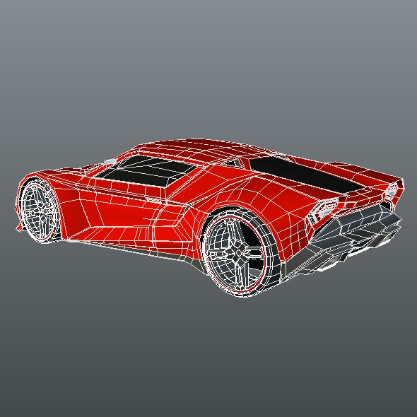 lowpoly itonos futuristic concept car 3d model 3ds blend dae lwo lw lws obj 304603