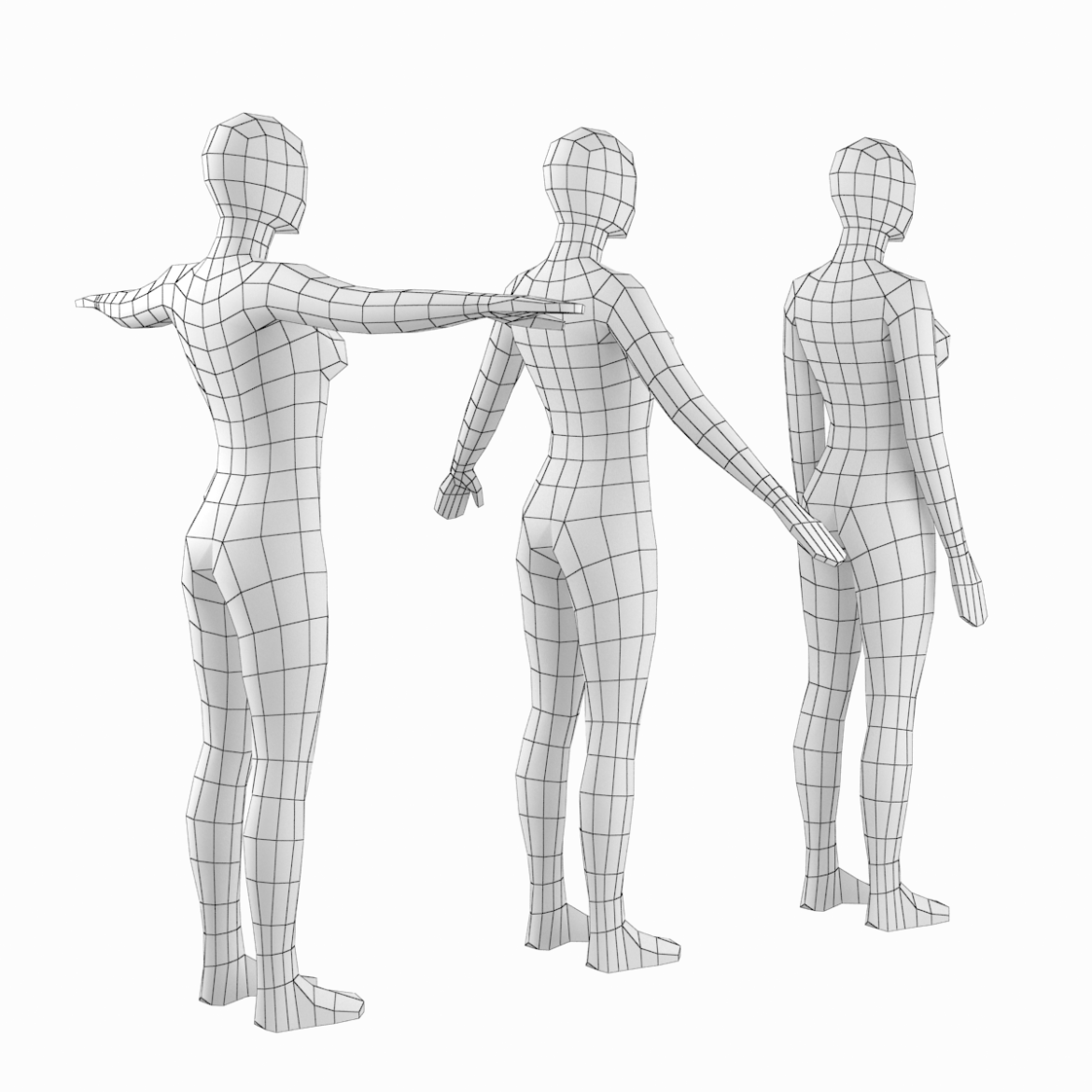 female base mesh in modeling poses 3d model png 3ds c4d dae dwg dxf fbx max ma mb obj stl 304697