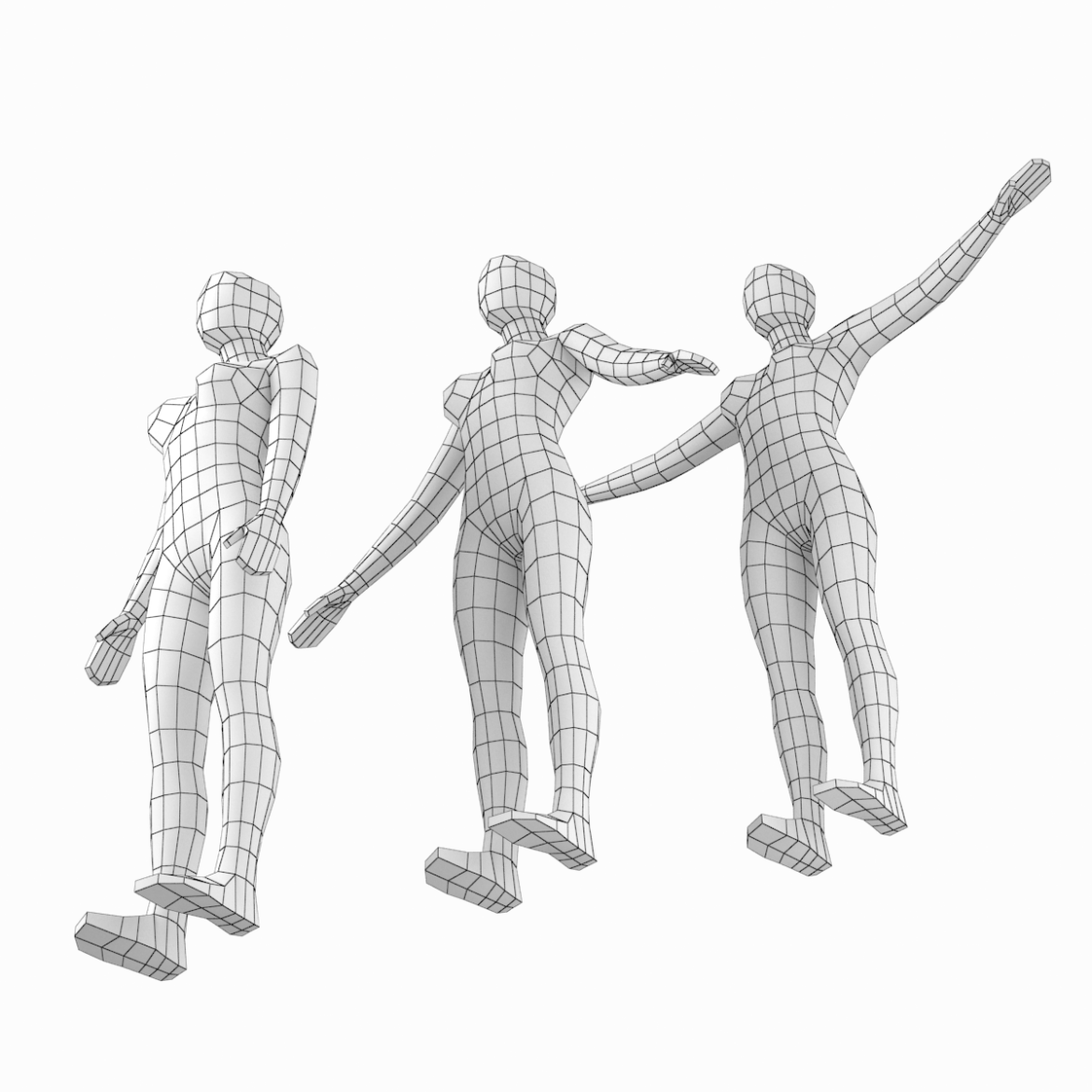 female base mesh in modeling poses 3d model png 3ds c4d dae dwg dxf fbx max ma mb obj stl 304699