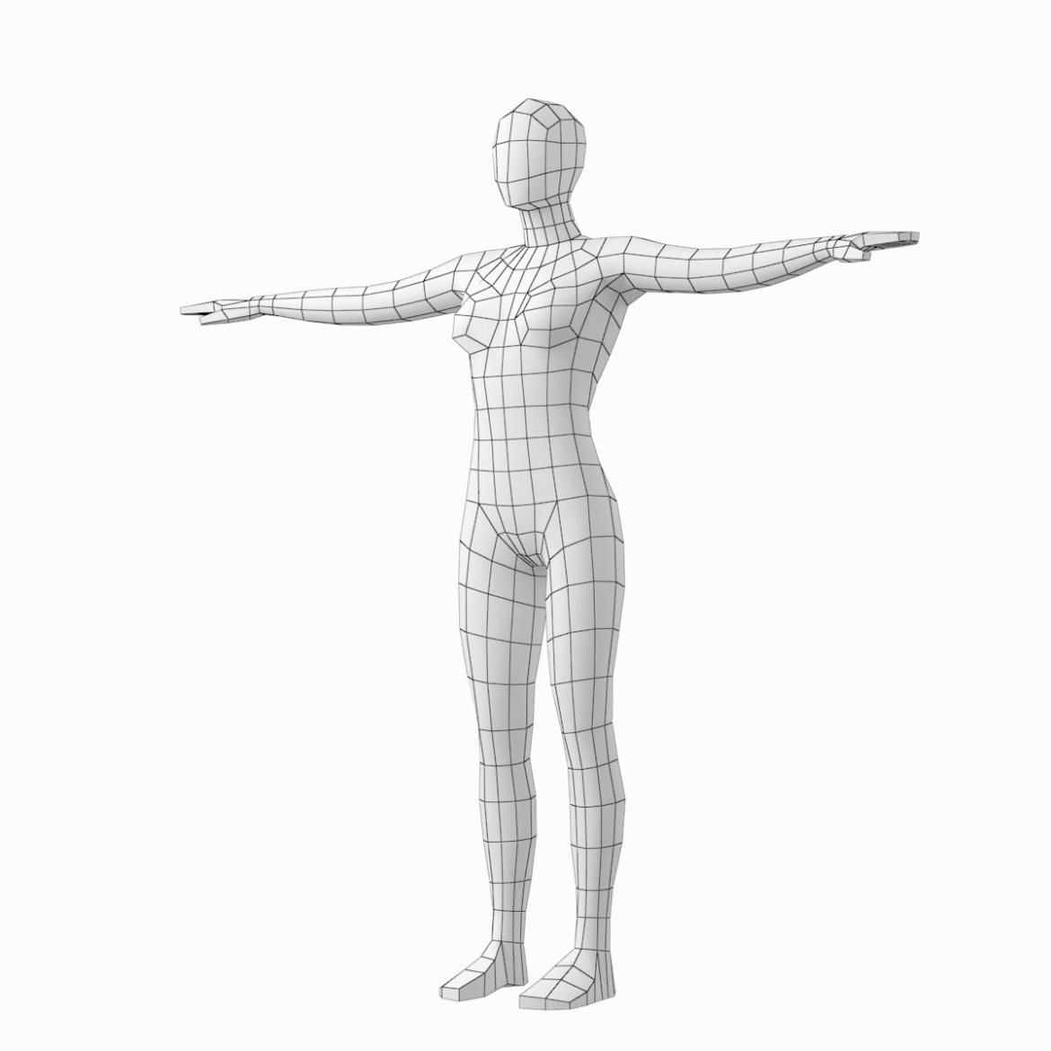 female base mesh in modeling poses 3d model png 3ds c4d dae dwg dxf fbx max ma mb obj stl 304703