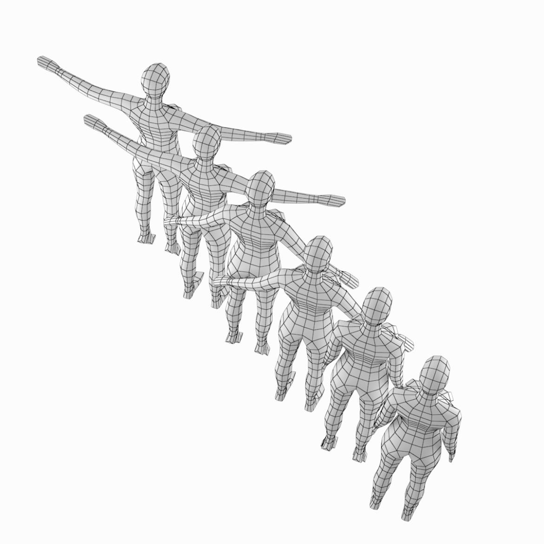 female base mesh in 6 modeling poses 3d model png stl obj ma mb max fbx dxf dwg dae c4d 3ds txt 304743