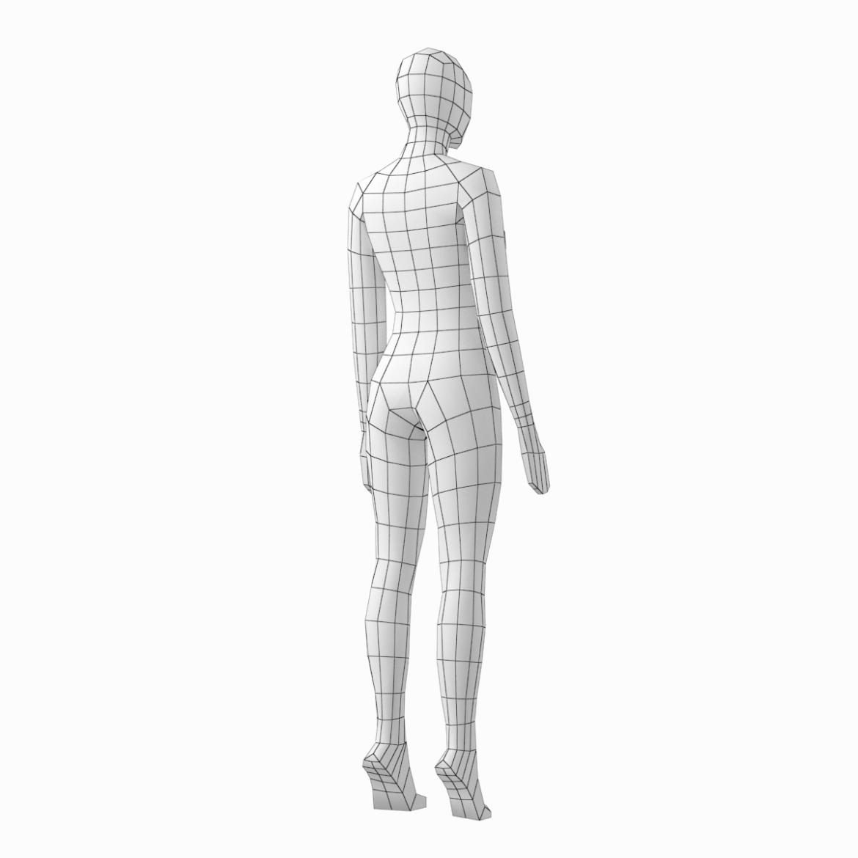 female base mesh in 6 modeling poses 3d model png stl obj ma mb max fbx dxf dwg dae c4d 3ds txt 304756