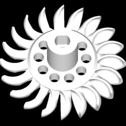 turgo turbine full station 3d model obj obj obj 304806