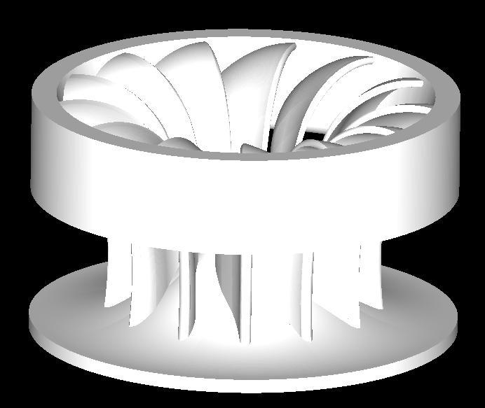 francis turbīna 3d modelis obj 304809