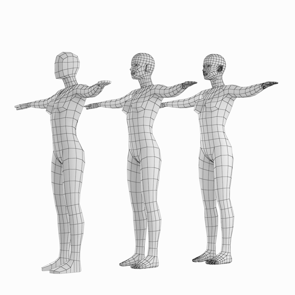 "Low-poly base mesh of human female body with accurate natural proportions in T-pose. Features: * The photos and 3D scan of real woman were used to create the model. * The body proportions are equal to measured natural human proportions adopted in art and design. * The model was designed to be a universal ""stem… <a class=""continue"" href=""https://www.flatpyramid.com/3d-models/characters-3d-models/human-types/female/female-base-mesh-natural-proportions-in-t-pose/"">Continue Reading<span> Female Base Mesh Natural Proportions in T-Pose</span></a> <a class=""continue"" href=""https://www.flatpyramid.com/3d-models/characters-3d-models/human-types/female/female-base-mesh-natural-proportions-in-t-pose/"">Continue Reading<span> Female Base Mesh Natural Proportions in T-Pose</span></a>"