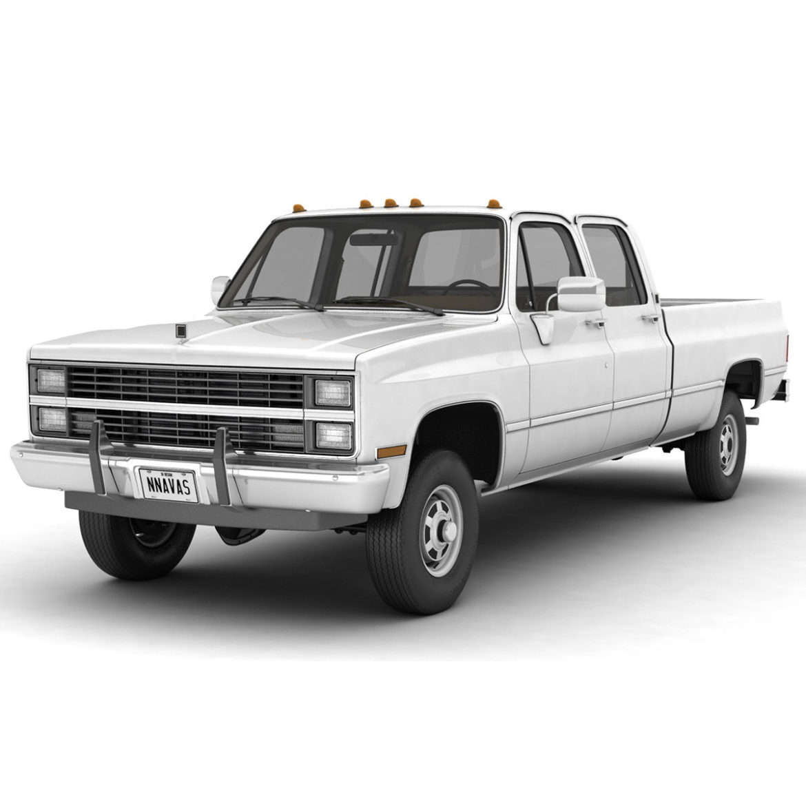 generic 4wd pickup truck 5 3d model max fbx obj 3ds jpeg 304884