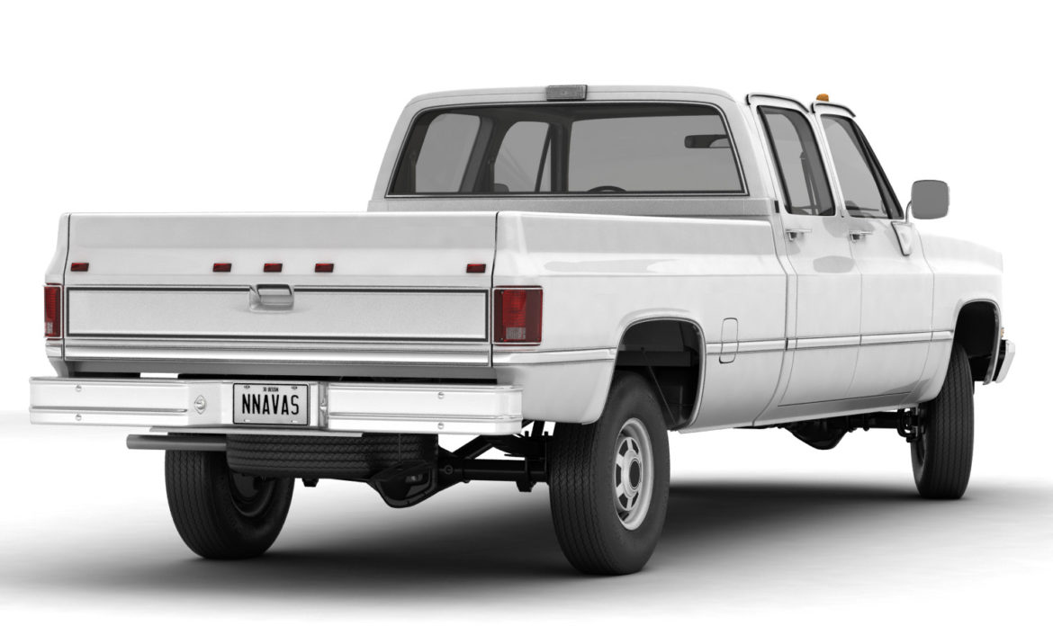 generic 4wd pickup truck 5 3d model max fbx obj 3ds jpeg 304887
