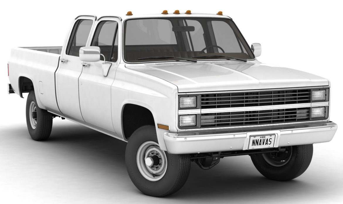 generic 4wd pickup truck 5 3d model max fbx obj 3ds jpeg 304888