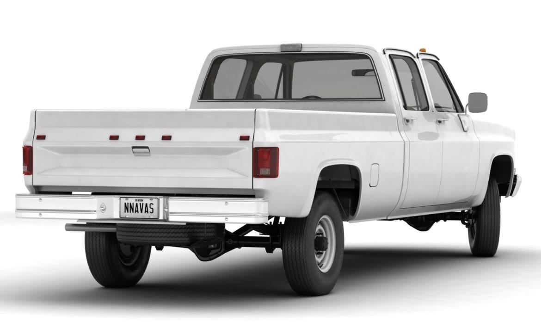 generic 4wd pickup truck 5 3d model max fbx obj 3ds jpeg 304889