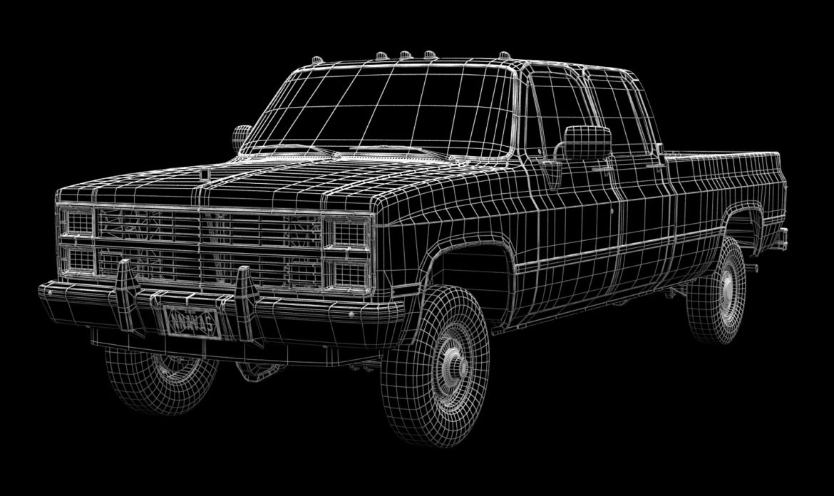 generic 4wd pickup truck 5 3d model max fbx obj 3ds jpeg 304901