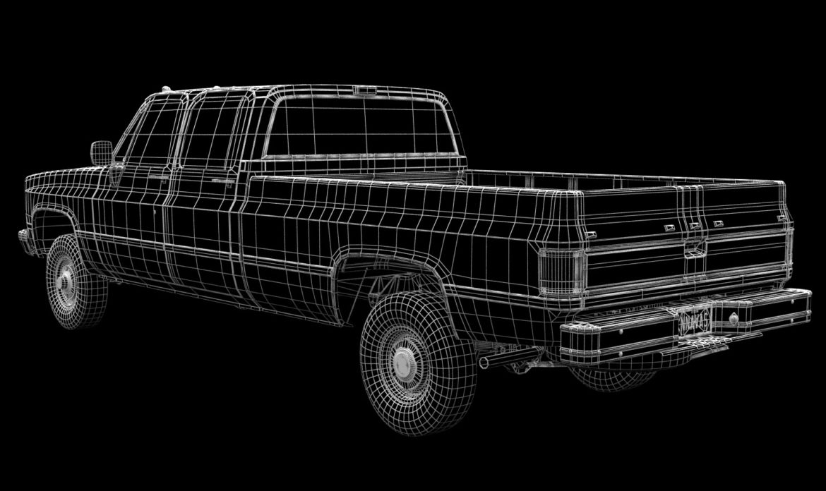 generic 4wd pickup truck 5 3d model max fbx obj 3ds jpeg 304903