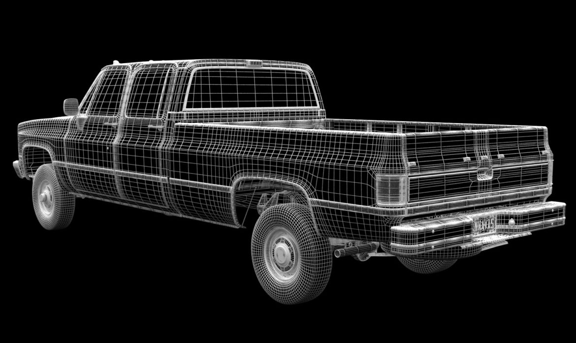 generic 4wd pickup truck 5 3d model max fbx obj 3ds jpeg 304905