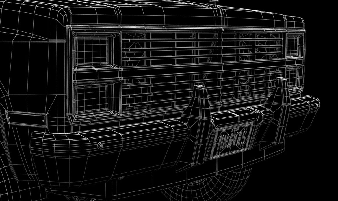 generic 4wd pickup truck 5 3d model max fbx obj 3ds jpeg 304908