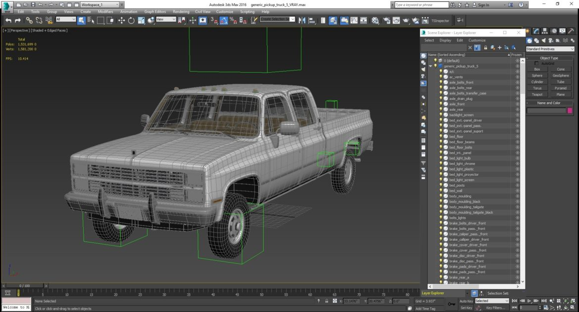 generic 4wd dually pickup truck 6 3d model max fbx 3ds obj jpeg 304911