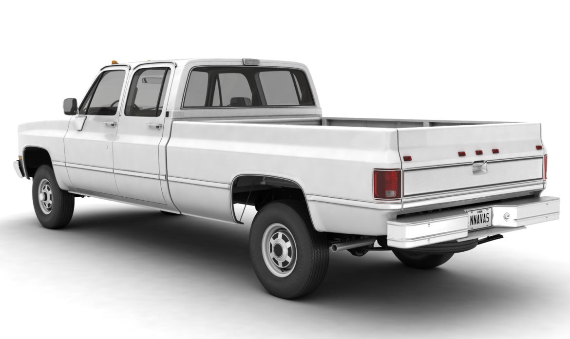 generic 4wd pickup truck 5 3d model max fbx obj 3ds jpeg 304912