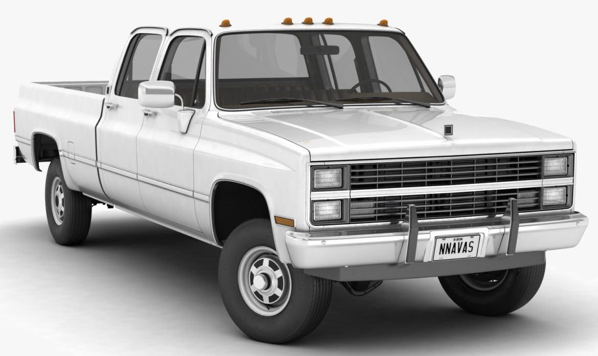 generic 4wd pickup truck 5 3d model max fbx obj 3ds jpeg 304913