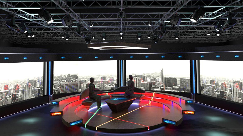 virtual tv studio chat set 2 3d model max ther dxf dwg c4d c4d 304957