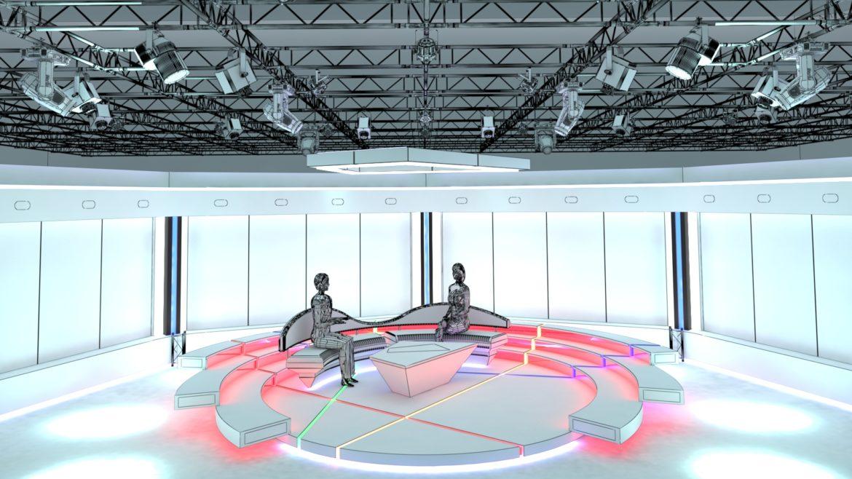 virtual tv studio chat set 2 3d model max ther dxf dwg c4d c4d 304958