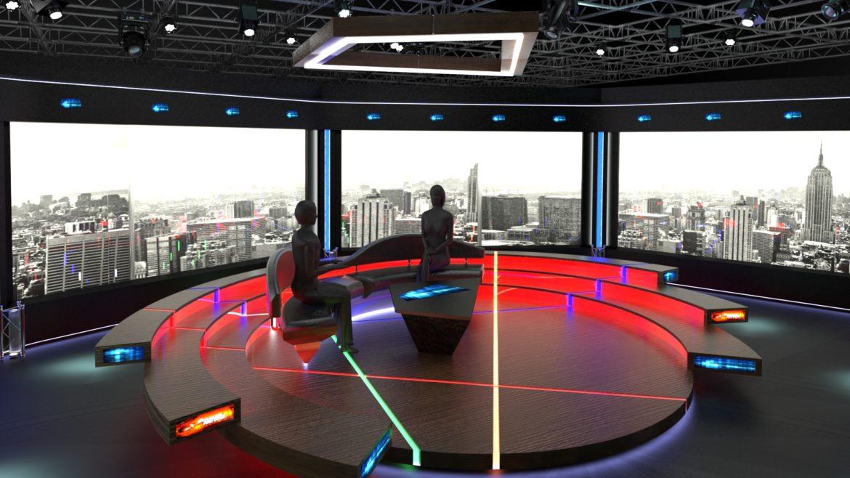 virtual tv studio chat set 2 3d model max ther dxf dwg c4d c4d 304959