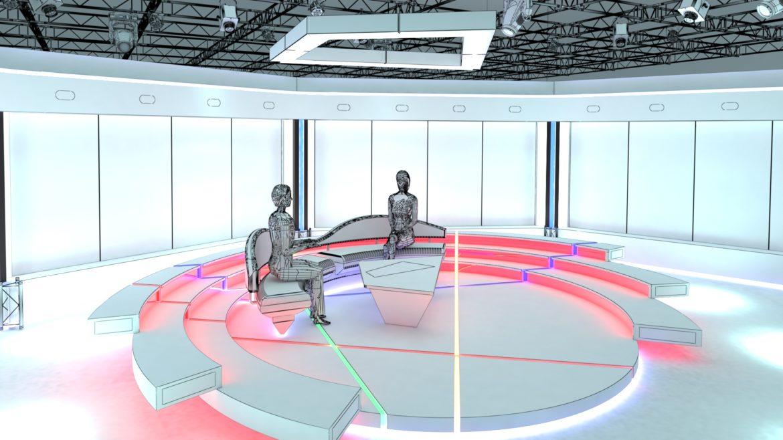virtual tv studio chat set 2 3d model max ther dxf dwg c4d c4d 304960