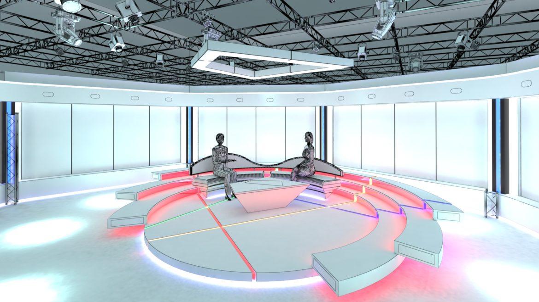 virtual tv studio chat set 2 3d model max ther dxf dwg c4d c4d 304962