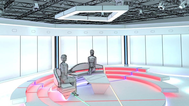 virtual tv studio chat set 2 3d model max ther dxf dwg c4d c4d 304966