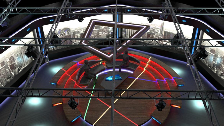 virtual tv studio chat set 2 3d model max ther dxf dwg c4d c4d 304969