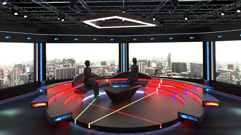 virtual tv studio chat set 2 3d model max ther dxf dwg c4d c4d 304971