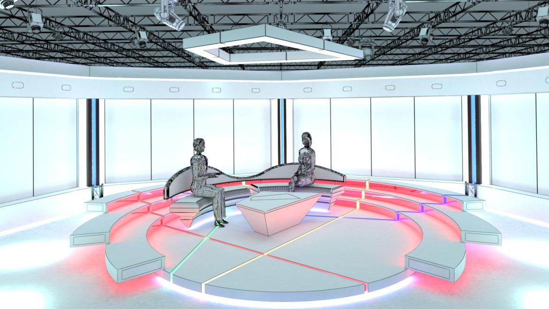 virtual tv studio chat set 2 3d model max ther dxf dwg c4d c4d 304972