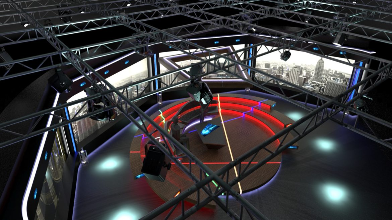 virtual tv studio chat set 2 3d model max ther dxf dwg c4d c4d 304973