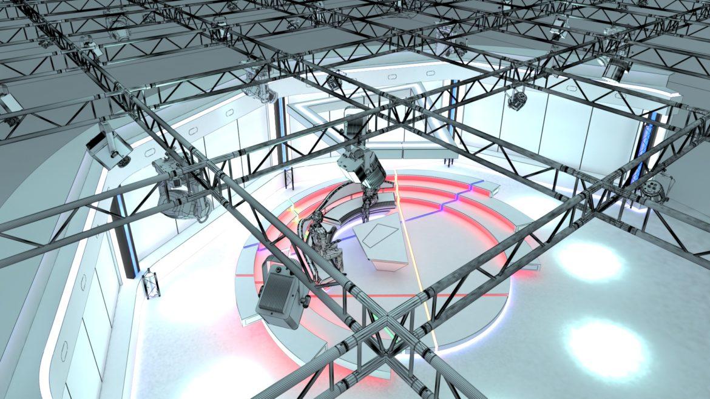 virtual tv studio chat set 2 3d model max ther dxf dwg c4d c4d 304974