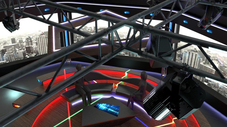 virtual tv studio chat set 2 3d model max ther dxf dwg c4d c4d 304976
