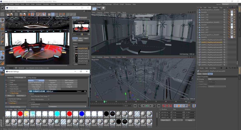 virtual tv studio chat set 2 3d model max ther dxf dwg c4d c4d 304981