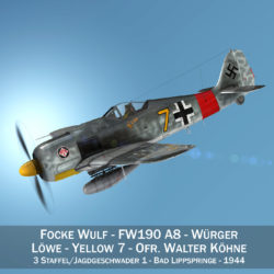 focke wulf – fw190 a8 – yellow 7 3d model 3ds c4d fbx lwo lw lws obj 305083