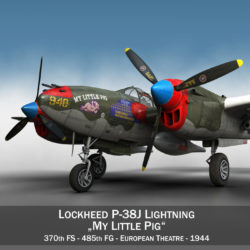 lockheed p-38 lightning – my little pig 3d model fbx lwo lw lws obj c4d 305109