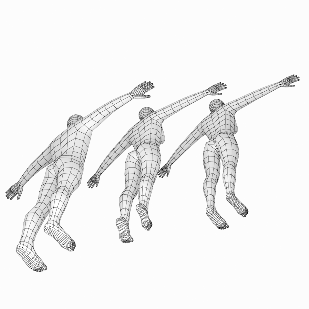 male and female base mesh in t-pose 3d model png stl obj ma mb max fbx dxf dwg dae c4d 3ds txt 305171